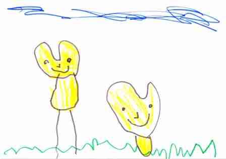 zwei gelbe Herzen