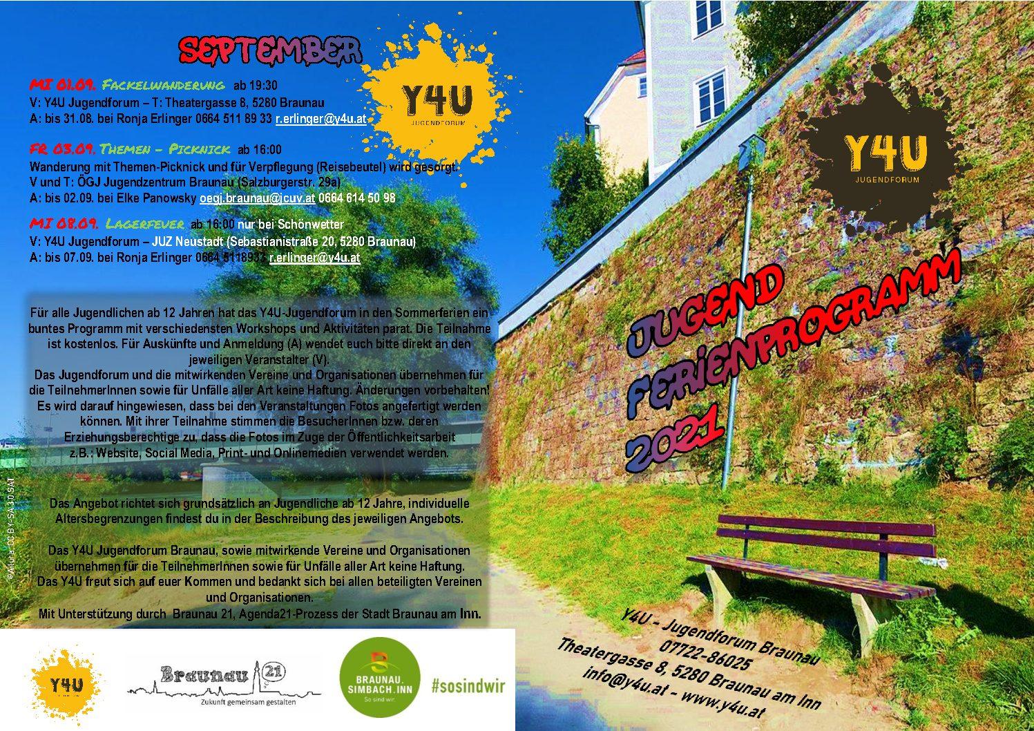Ferienprogramm für Jugendliche